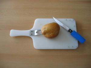 Einhänderbrett und Messer mit Griffverdickung